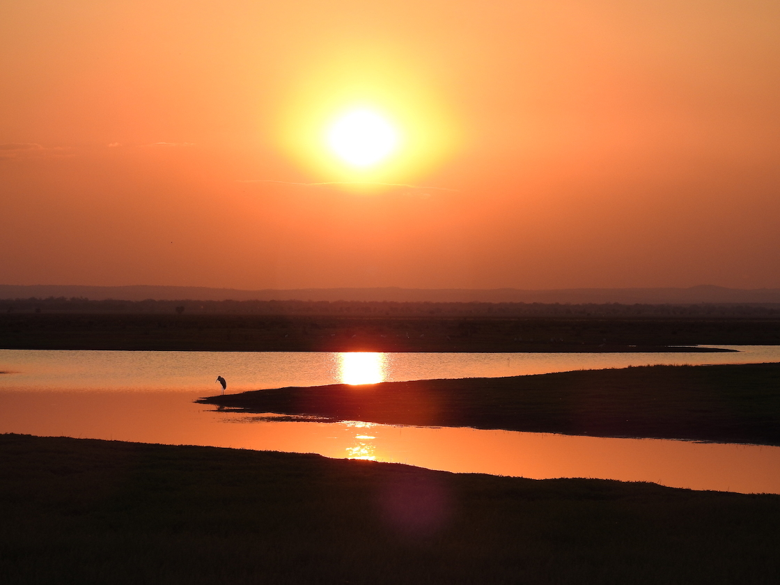 Sunset over the floodplain, Gorongosa National Park, Mozambique.