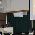 Mary Sadid presenting her work in Japan, after the field and lab course in Yakushima island and Kyoto.