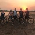 Oxford-Gorongosa Paleo-Primate Field School 2019 students during a cycle to nearby town Vinho - photo shared by Sophie Burdugo