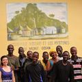 Katarina Almeida-Warren with the Bossou team, in Guinea Conakry