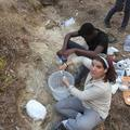 Plastering fossils in Gorongosa National Park, Mozambique.