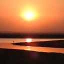 Sunset over the floodplain in Gorongosa National Park