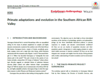 New publication in Evolutionary Anthropology