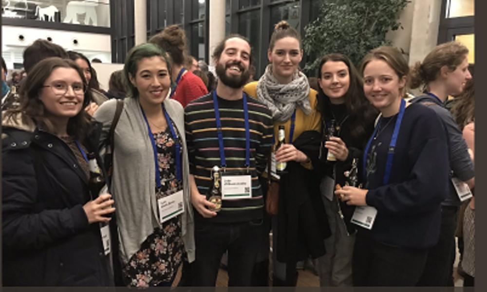 Lab members Megan Beardmore-Herd, Lynn Lewis-Bevan, João Coelho, Jana Muschinski, Lucy Baehren and Philippa Hammond in Göttingen for the Gesellschaft für Primatologie in February 2019