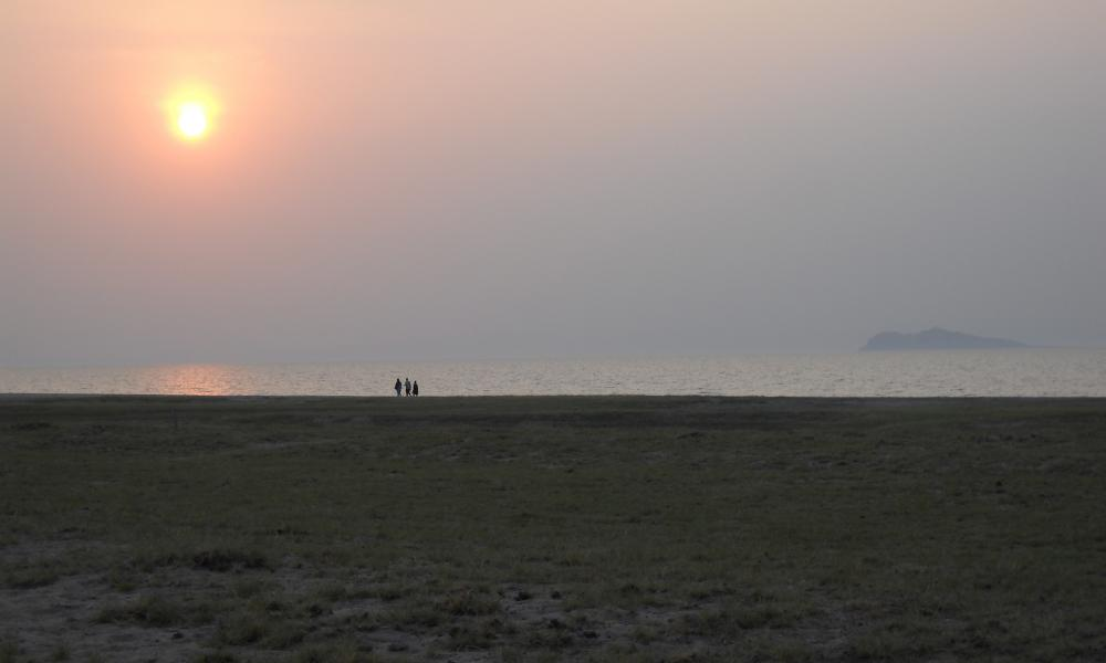 View from Lake Turkana, Koobi Fora, Kenya.